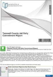 tulsa county desk blotter tazewell county jail daily commitment report pdf