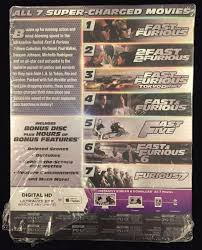 fast u0026 furious 7 movie collection blu ray digital hd 8 discs set