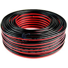 amazon com 100 u0027 feet 14 gauge red black stranded 2 conductor