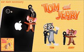 strapya tom jerry earphone jack accessory