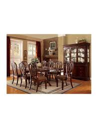 Cherry Dining Room Table Furniture Of America Dining Set Traditional Cherry Finish