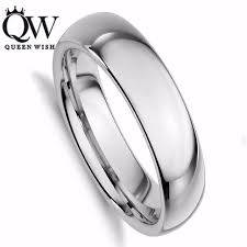 wedding band men queenwish tungsten carbide silver polished wedding band men womens