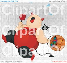 royalty free rf clipart illustration of a chubby she devil