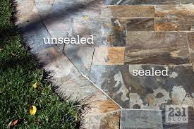 Best Sealer For Flagstone Patio by 231 Designs Sloughing Sanding U0026 Sealing In The Backyard