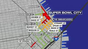 San Francisco City Map by Traffic Increases As San Francisco Streets Close For Super Bowl