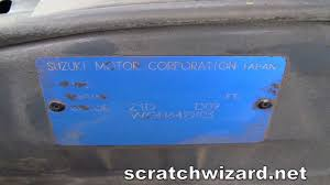 how to find your suzuki paint code youtube