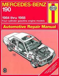 mercedes car manual mercedes 190 1984 1988 haynes service repair manual