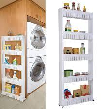 kitchen storage cupboard on wheels bathroom kitchen 5 tiers slim movable shelf storage cabinet wheel organize