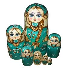 aliexpress com buy 7 pcs beautiful wooden matryoshka russian