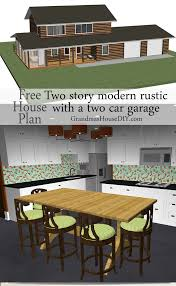 free house plan rustic modern country home with a 2 car garage