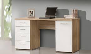 Schreibtisch 90 Breit Schreibtisch Net 145 Cm 4 Schub Sonoma Eiche Front Weiß Von Forte