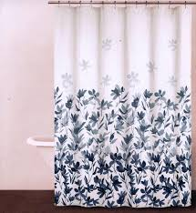 Amazon Shower Curtains Amazon Com Dkny Garden Splash Periwinkle Blue U0026 White Floral
