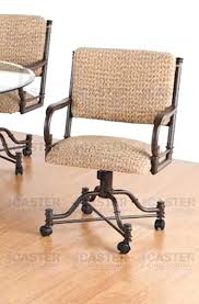 Upholstered Dining Room Chairs With Casters by Dining Chairs Casters Cramco Inc Timber Lane Faran Dining Chair