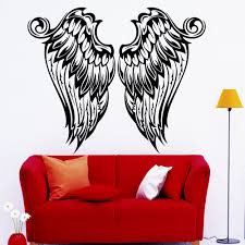 Home Window Decor Angel Wings Wall Art Decal Nursery Bedroom Home Window Decor Vinyl