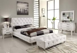 Cream Tufted Bed Bedroom Beautiful Black And Grey Pattern Sheet Platform Bed And