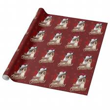 cat christmas wrapping paper grumpy cat merry christmas wrapping paper shop your way online