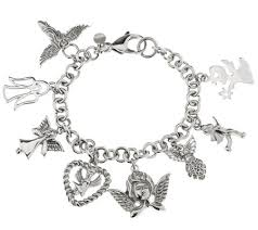 stainless steel charm bracelet images Stainless steel angel charm bracelet page 1 001