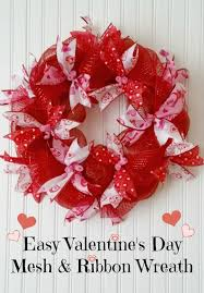 s day wreath easy mesh ribbon s day wreath