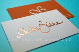 Business Cards Foil Rose Gold Foil Business Card