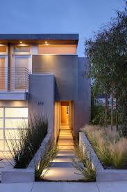awesome glass and concrete home exterior transitional with corten