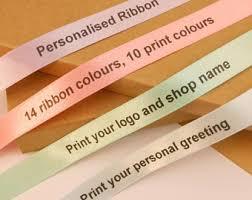 custom ribbon printing printed ribbon etsy