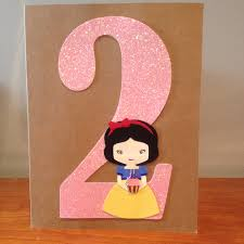 custom made birthday card for a special 2 years old princess