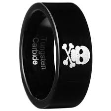Tungsten Carbide Mens Wedding Rings by 8mm Black Tungsten Carbide Men Women Skull Wedding Band Ring Size 9 13