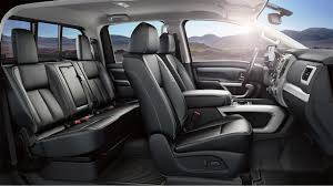 luxury minivan interior 2017 nissan titan features nissan canada