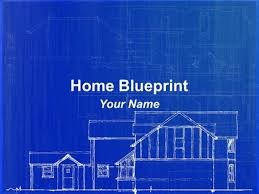 home blue print home blueprint powerpoint template