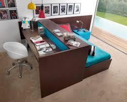 minimalist platform desk bed for adults