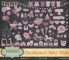 baby shower chalkboard chalkboard pink baby shower clipart illustrations creative market