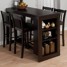 breakfast table with storage jofran maryland counter height storage dining table shelves kitchen