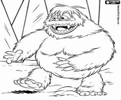 abominable snow monster north coloring printable game