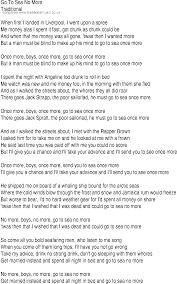 Blind To You Lyrics Irish Music Song And Ballad Lyrics For Go To Sea No More