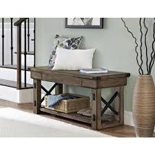 altra furniture altra rustic gray bench 5054096pcom the home depot