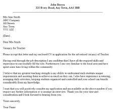 letter application for teaching cover samples teachers teacher