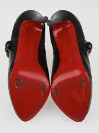 christian louboutin black leather c u0027est moi 120 ankle boots size 7
