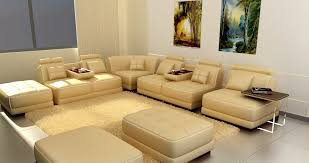 European Sectional Sofas 5004 Modern White Leather Sectional Sofa