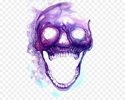 purple decorations skull purple skeleton purple smoke decorations png