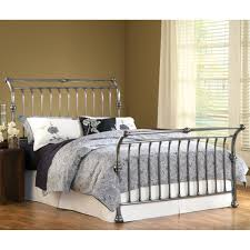 markham iron sleigh bed by hillsdale furniture wrought iron