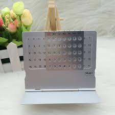 Small Desk Calendars Perpetual Calendar Mini Aluminium Alloy Stand Table Calendar