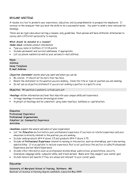 Resume Sample Chronological Format by Chronological Resume Objective