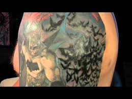 batman half sleeve tattoo youtube