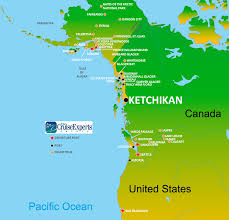 Alaska Canada Map by Best Place To Catch Salmon Is Ketchikan Alaska
