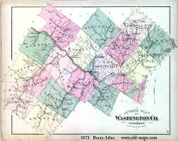 Washington County Map by Vermont County Map