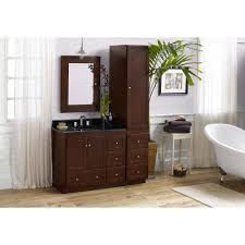 Bathroom Single Vanity by Ronbow Shaker 36 Inch Bathroom Vanity Set In Dark Cherry With