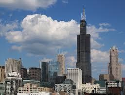willis tower chicago view of willis tower from roof of 933 w van buren chicago