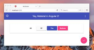 getting started with angular material 2 alligator io