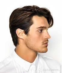 hair middle aged man dark straight side parted dark brown hair men s haircuts and styles