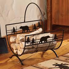 bear metal firewood log holder